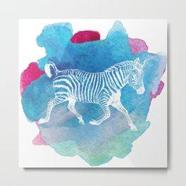 Color Spot Safari Zebra Metal Print