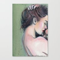 emerald Canvas Prints featuring Emerald  by Madelyne Joan Templeton