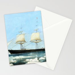 12,000pixel-500dpi - Nathaniel Currier - Clipper Ship 'Red Jacket' - Digital Remastered Edition Stationery Cards