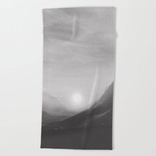 Pastel vibes 08 Black and White Beach Towel