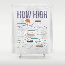 how high Shower Curtain