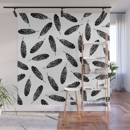 Tribal Feather Wall Mural