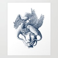 breathe Art Prints featuring Breathe by Norman Duenas