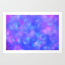 Turquoise Blue Bubbles Art Print