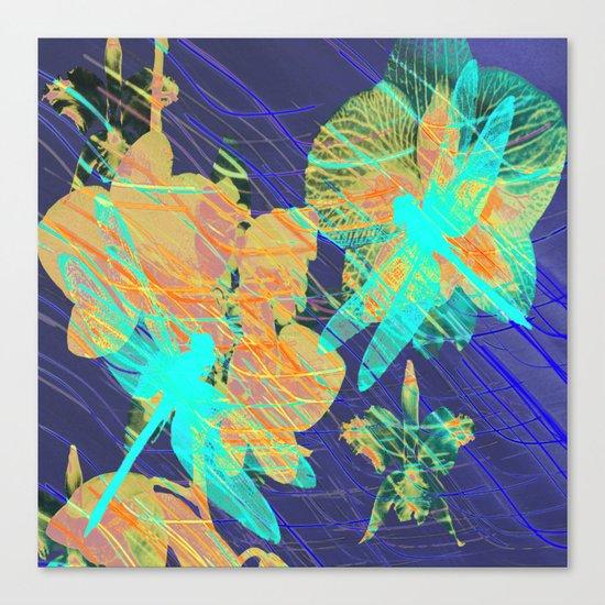 Colorful Dragonflies QD Canvas Print