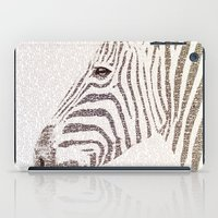 kafka iPad Cases featuring The Intellectual Zebra by Paula Belle Flores