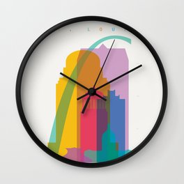 Shapes of St. Louis. Accurate to scale Wall Clock