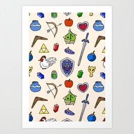 Zelda pattern Art Print