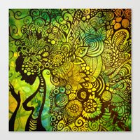 zentangle Canvas Prints featuring Zentangle by Crystal Streit-Beetham