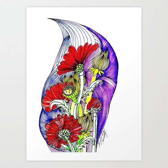 Flowers Two Art Print
