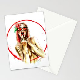 bad girls live forever Stationery Cards