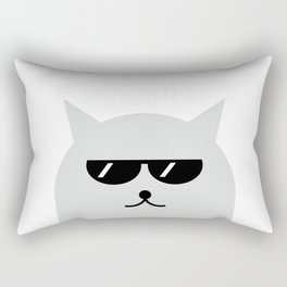 Cat With Glasses #society6 #decor #buyart #artprint Rectangular Pillow