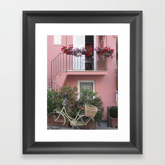 A Day in the Life - Capri, Italy Framed Art Print