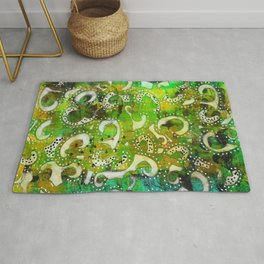 The Spackle - Original Mixed Media Painting Rug