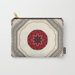 Tile Red Mandala Carry-All Pouch