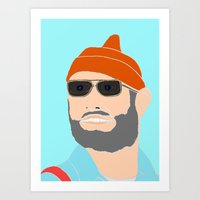 the life aquatic Art Prints featuring life aquatic  by Chad spann
