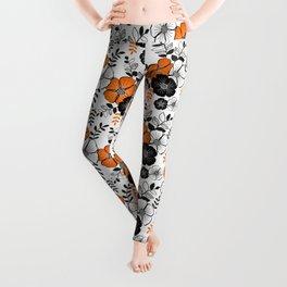 Fleur orange Leggings