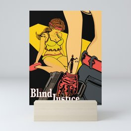 Blind Justice Mini Art Print
