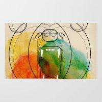 bear Area & Throw Rugs featuring Bear by Alvaro Tapia Hidalgo