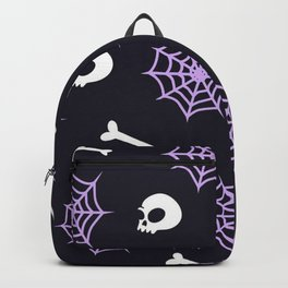 spider web and skull Backpack