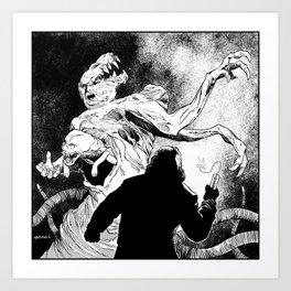 The Thing: MacReady Vs. The Blair Monster Art Print
