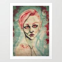 Pink For Nosferatu Art Print