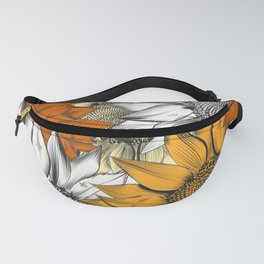 Beautiful pattern from hand drawn sunflowers Fanny Pack