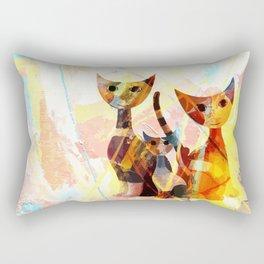 Familie Katze Rectangular Pillow