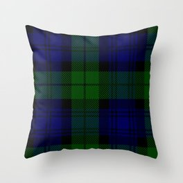MY BLACK WATCH TARTAN Throw Pillow