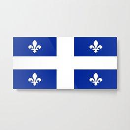 Flag of Quebec Metal Print