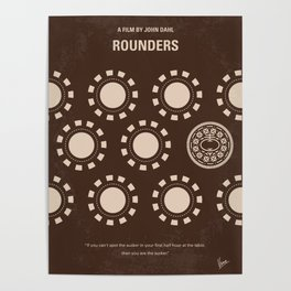 No503 My Rounders minimal movie poster Poster