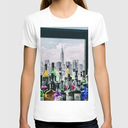 Aperitifs in New York Landscape Painting T-shirt