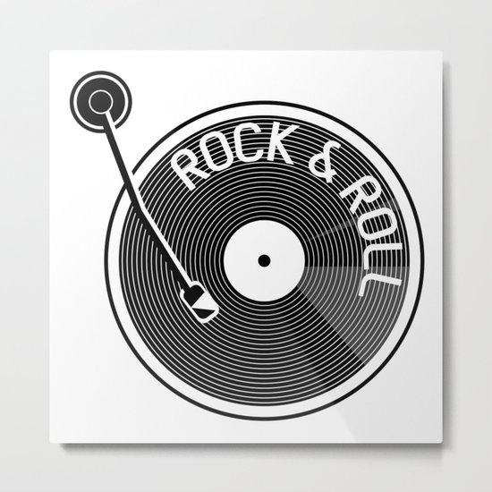 Rock & Roll Record Metal Print