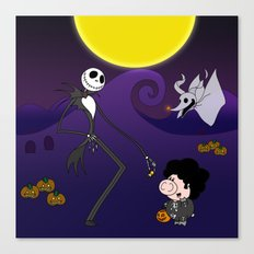 Nightmare before Afro Pig Canvas Print