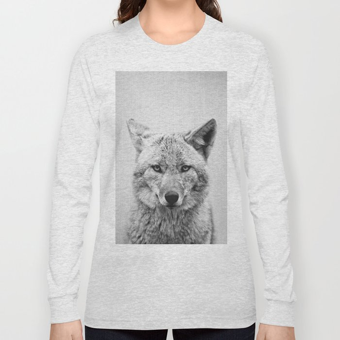 Coyote - Black & White Long Sleeve T-shirt