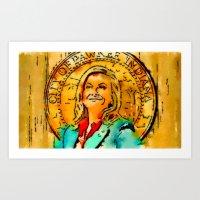 leslie knope Art Prints featuring Leslie Knope by rcknroby