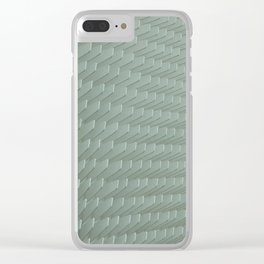 Abstract White Minimal Pattern Clear iPhone Case