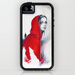 What big eyes you have - ink illustration iPhone Case