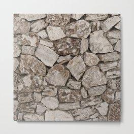 Old Rustic Stone Wall Metal Print