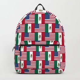 Mix of flag: mexico and usa Backpack