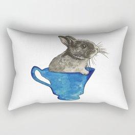 Follow The White Rabbit Rectangular Pillow