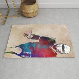 Lacrosse sport art #lacrosse #sport Rug