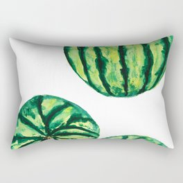 3 watermelon watercolor Rectangular Pillow