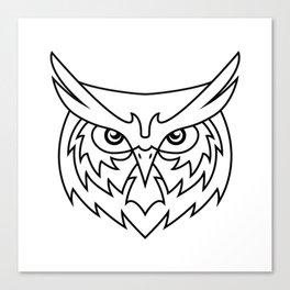 Wisdom - B&W Canvas Print