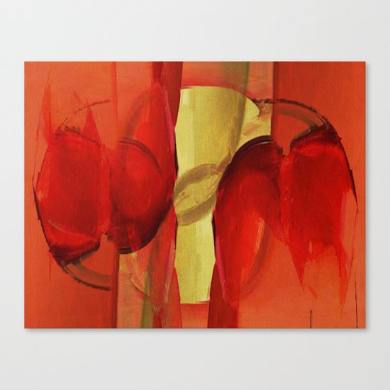 Two Red Horses Canvas Print