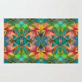 Floral Fractal Art G23 Rug