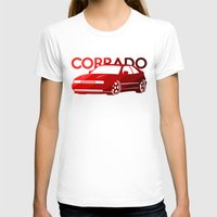 volkswagen T-shirts featuring Volkswagen Corrado - classic red - by Vehicle