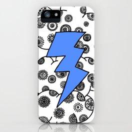 Blue Lightning Cloud iPhone Case