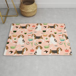 beagle sushi dog lover pet gifts cute beagles pure breeds Rug