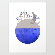 Lonely Wolf´s Planet Art Print